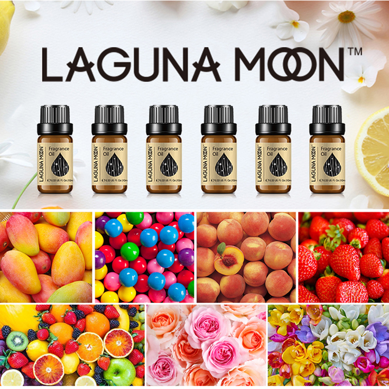 Lagunamoon Fresh Linen Fragrance Oil 10ml Oil Flower Fruit Essential Oil Rosemary Passion Fruit Pineapple Gitrus Orange Blossom