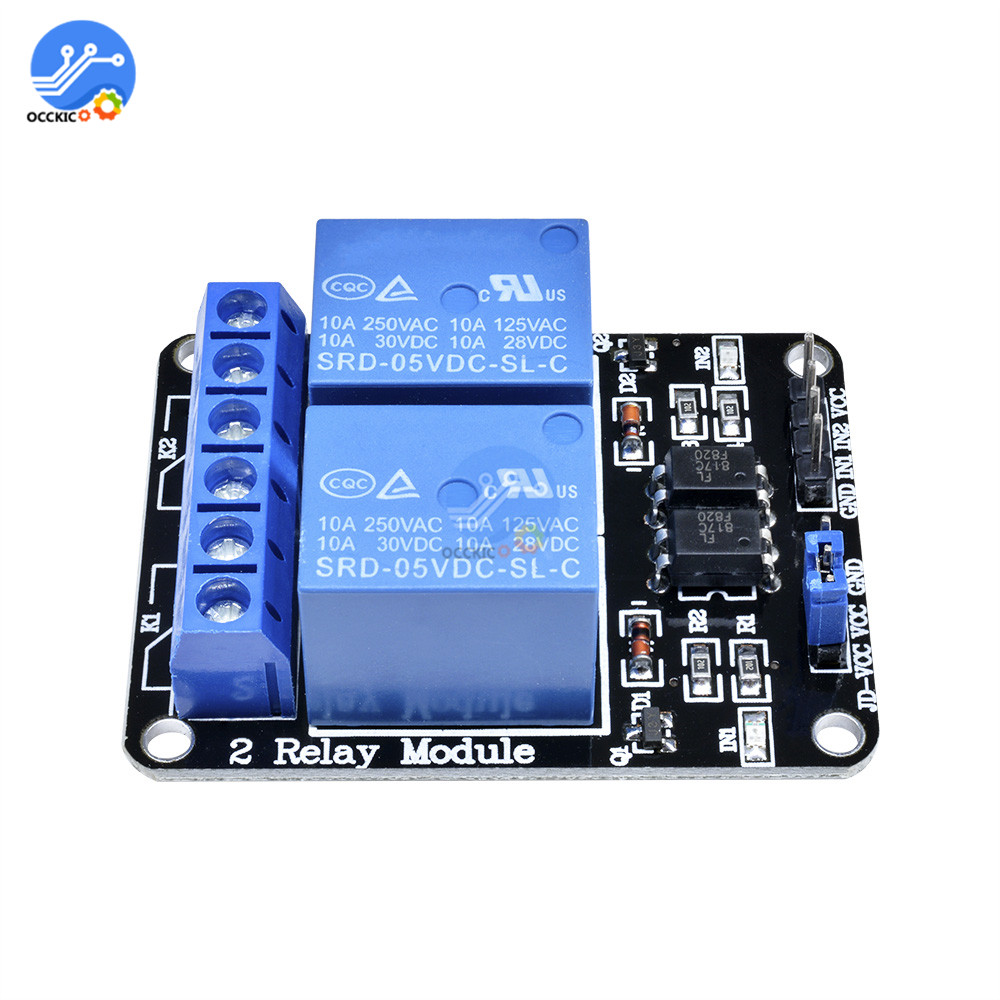 DIY kit DC 5V Relay Module 2 Channel Low Level Triggered Shiled Relays For Arduino ARM PIC AVR