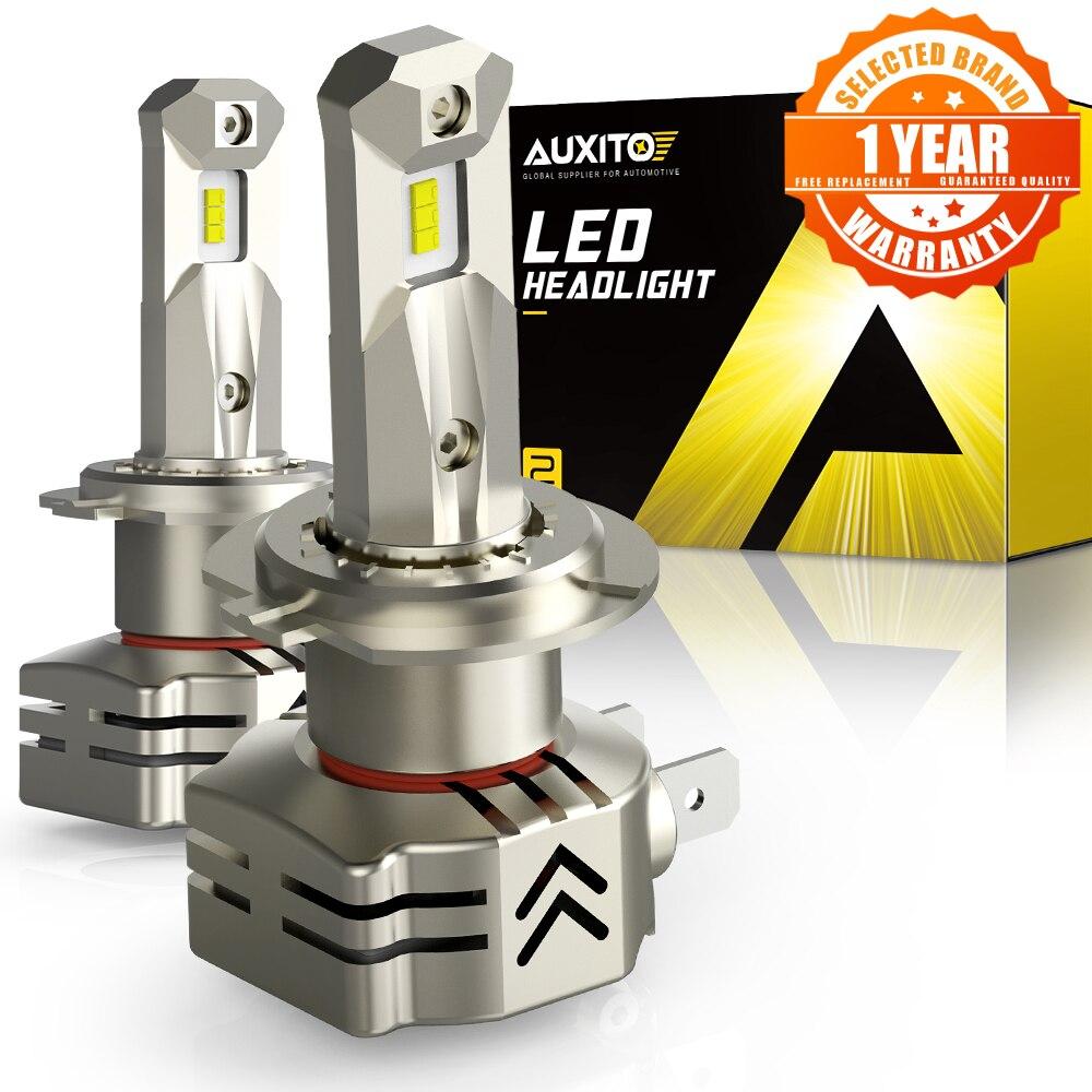 Автомобильные фары AUXITO, новые фары H7, 9003 лм, 52 Вт, H4, 9005, дальний и ближний свет, HB3 9006, HB4 6000, H8, H11 Светодиодный лампы для автомобильных фар, 12 В, 24 ...