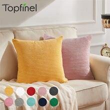 Capa de almofada macia cor sólida nordic casa decorativa veludo amarelo fronha minimalismo sofá lance almofadas para sala estar