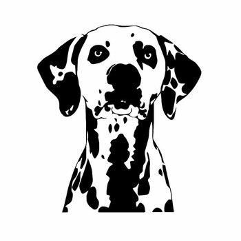 Creativity Car Stickers  Dog Animal Pet Dalmatians Great Waterproof Decal Accessories PVC 17cm X 15cm hmily красный цвет вина 32cm x 28cm x 17cm