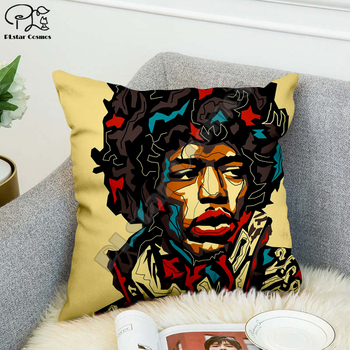 Rock singer Bob Marley/The Hillbilly Cat Hip Hop Pillow Case Polyester Decorative Pillowcases Throw Pillow Cover Square style-5 image