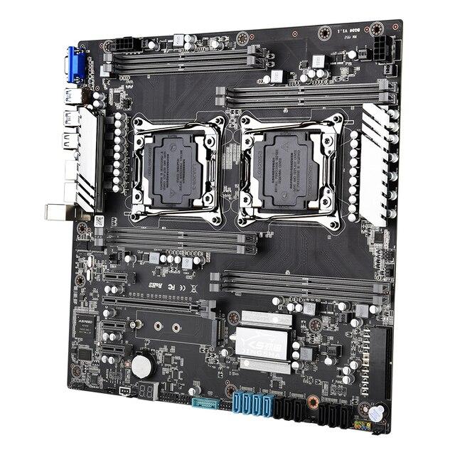 JINGSHA X99 double carte mère ensemble avec 2 pièces XEON E5 2650V3 processeur et 8*16gb ddr4 2133mhz ecc reg ram