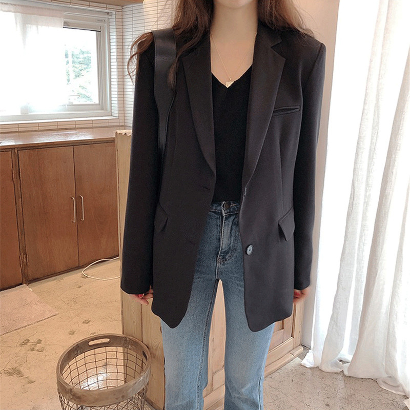 Zoulv 2021 Spring Autumn Fashion Blazer Jacket Women Casual Pockets Long Sleeve Work Suit Coat Office Lady Solid Slim Blazers