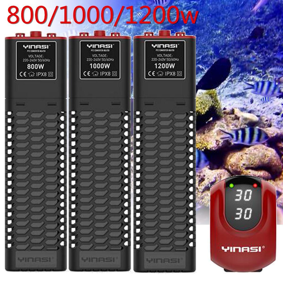 800/1000/1200W Mini Aquarium Tige de Chauffage D'eau Submersible Aquarium Tige de Chauffage Thermostat Automatique De Contrôle De Température Outils