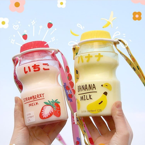 Hot Sale 480ml Fruit Plastic Water Bottle BPA Free Portable Leak Proof Travel Drinking Bottle for Kids Girl Anti fall Water Cup(China)