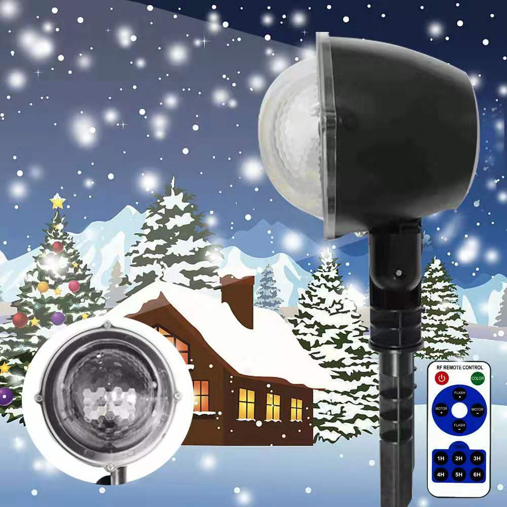 Christmas Lights Led  Snowfall Projector IP65 Flurries Falling Outdoor Garden Lamp Snow Spot For Led Lights Decoration