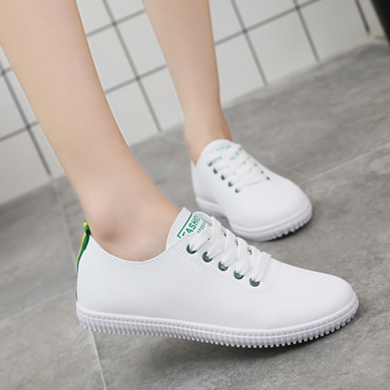 Women Lace Up Sneakers Ladies Vulcanized Good Quality Woman Casual White Shoes Female Comfortable Sport Shoes Women's Plus Size