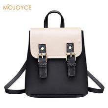 Women Mini Hit Color Backpack PU Leather College Shoulder Satchel School Rucksac