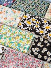 O algodão fabric100 % caçoa a popelina que imprime a roupa fina do vestido pijamas do bebê o brocado floral que costura a planta macia confortável 50cm * 150cm