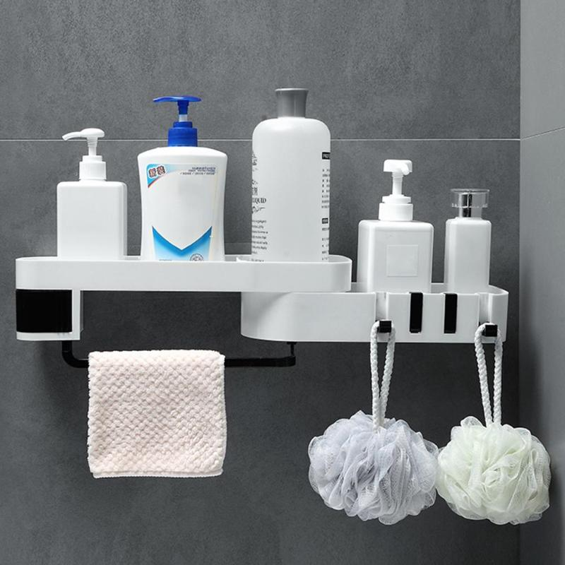 Corner Shower Shelf Wall Mounted Drill-free Holder Bathroom Shampoo Shower Rack Bracket Household Tool Bathroom Box Wall Hanging