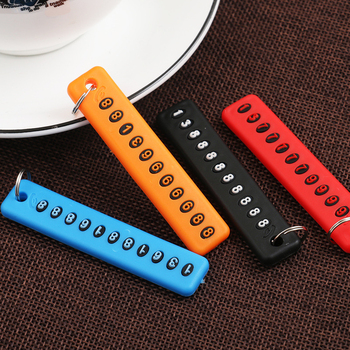 Creative Number Keychain Plastic Decorative Key Chain Phone Number Car Styling1pc image
