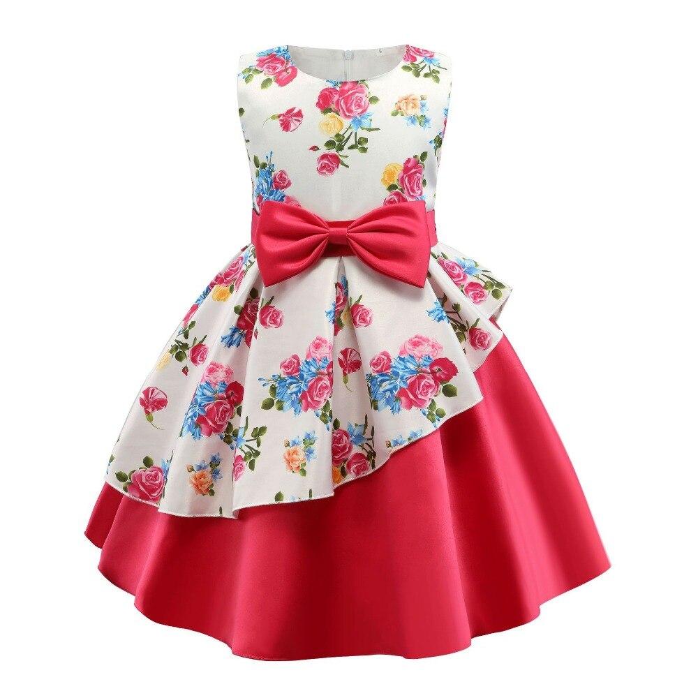 Summer Dress Kids Clothes Girls Rose Wedding Dress For Girls Print Party Princess Dresses Children Clothing vestidos 10 12 Year 6