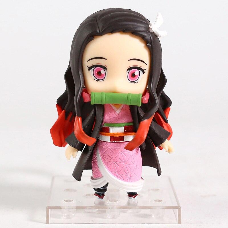 Demon Slayer Zenitsu Agatsuma 1334 Kamado Tanjirou 1193 Nezuko 1194 Q Version Action Figure Collectible Model Toy