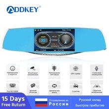 ADDKEY Анти радар для России Speedcam Dash cam видео рекордер камера FHD 1080P Регистратор Автомобильный видеорегистратор, радар-детектор зеркало заднего вида