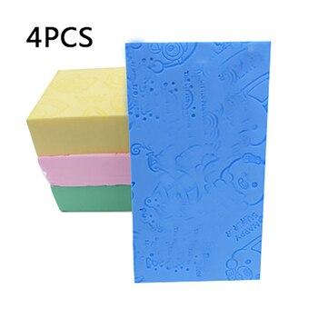 4 sztuk skompresowana gąbka do czyszczenia płyn do demakijażu myjka do twarzy miękka gąbka do czyszczenia twarzy gąbka uszczelniająca pielęgnacja skóry gąbka do czyszczenia narzędzi