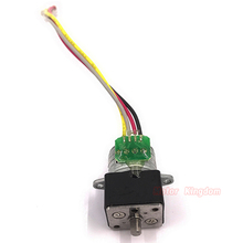 Mini 15mm  Full Metal Gear Stepper Stepping Motor DC 6V 2-Phase 4-Wire Motor Gearbox Precision Ratio 35:1 DIY Digital Camera hstm42 stepping motor dc two phase angle 0 9 1 33a 2 8v 4 wires single shaft