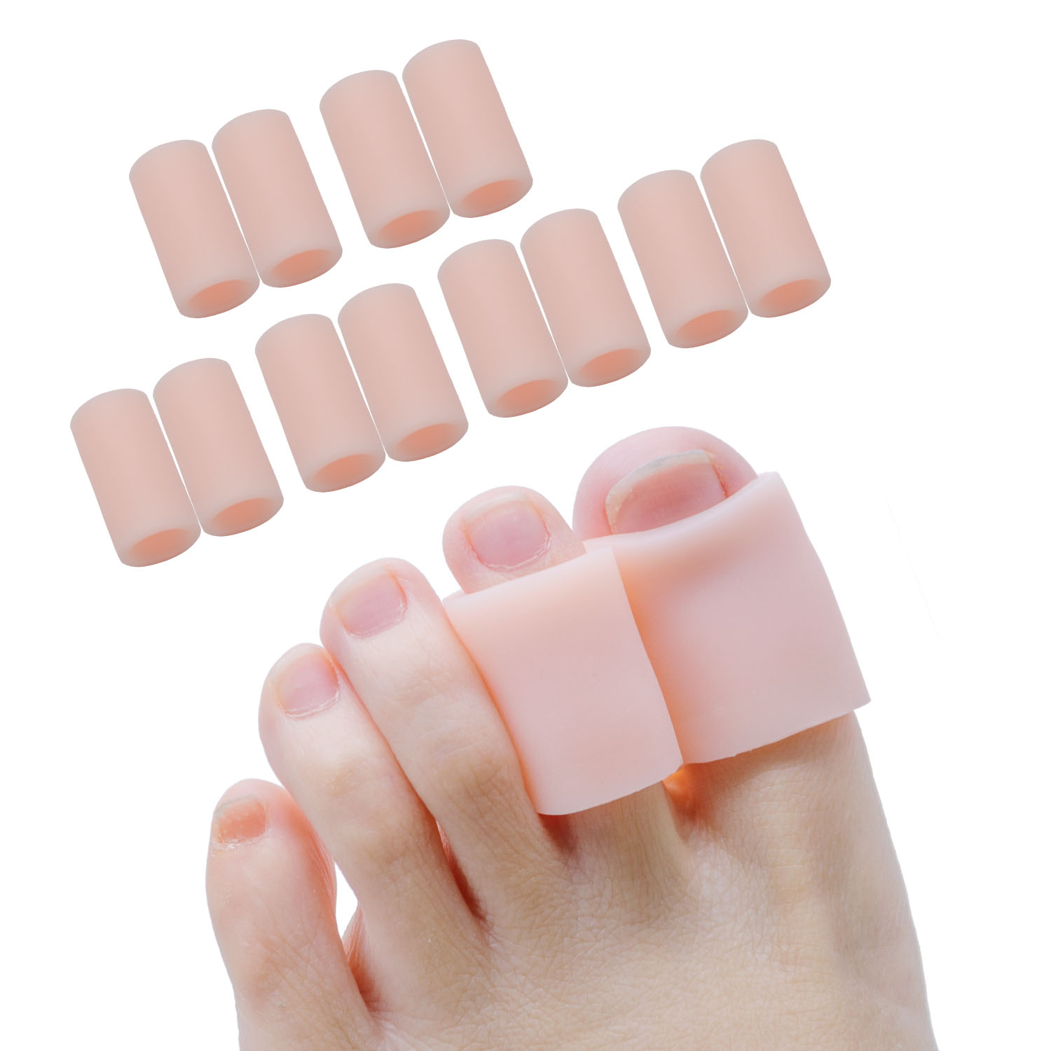 Sumifun 2Pieces Transparent Gel Fingers Protector Corn Corrector Hammer Toe Separator Foot Suport Z55302