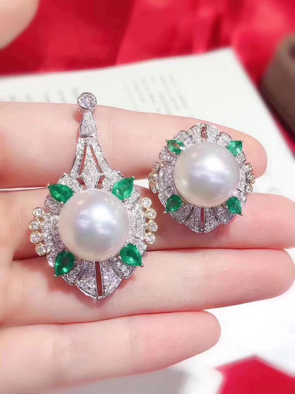 D113 bijoux fins 925 en argent Sterling naturel eau douce 11-12mm blanc perle femelle ensembles de bijoux pour femmes ensembles de bijoux fins