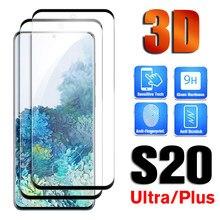 3D incurvé trempé verre pour Samsung Galaxy S20 Ultra S 20 Plus S20ultra S20plus protecteur plein écran 9H HD film protecteur