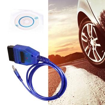 Black/Blue VAG-COM 409.1 Vag Com 409Com Vag 409.1 Kkl OBD2 USB Diagnostic Cable Scanner Interface for VW Audi Seat Volkswagen
