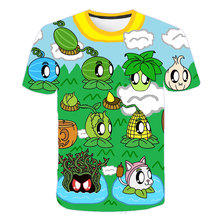 Cute Plants vs. Zombies Wars Kids clothes Summer Short Sleeve 3D Cartoon T Shirt for Boys Sweatshirt Teenager Boys Children Tops children s clothes plants vs zombies wars t shirt boys t shirt kids cartoon tshirt baby girls boys clothing summer cool tops tee
