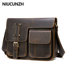 NIUCUNZH Messenger Bag Men's Shoulder Bag Genuine Leather Me