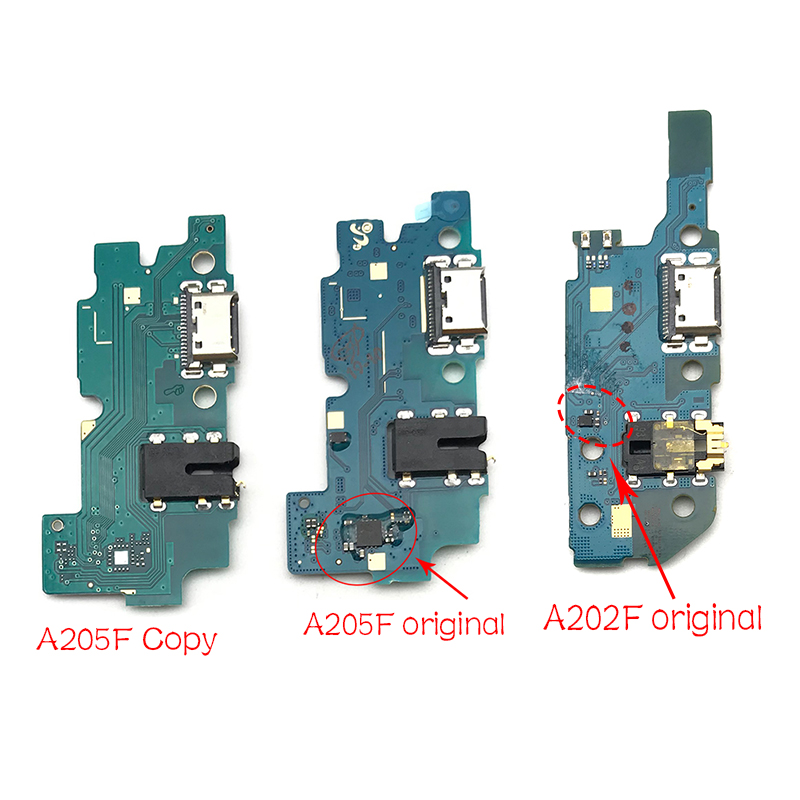 For Samsung Galaxy A20 A205F A205 A202F A202 Dock Connector Micro USB Charger Charging Port Flex Cable Microphone Board