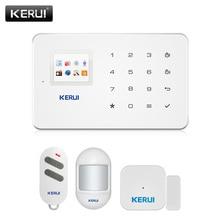 KERUI в G18 черный панель беспроводной GSM домашней охранной сигнализации системы охранной датчика комплект для Андроид iOS телефон приложение дистанционного управления