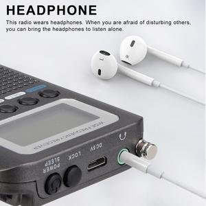 Image 4 - Retekess TR105 Air Band Radio Portable FM AM SW VHF Full Band Radio CB Receiver Digital Alarm Speaker with Extend Antenna