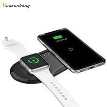 צ י אלחוטי מטען טלפון מהיר טעינת Pad USB שעון Dock עבור iphone 8 בתוספת 11 12 X XS XR אפל שעון iwacth סמסונג Xiaomi Mi