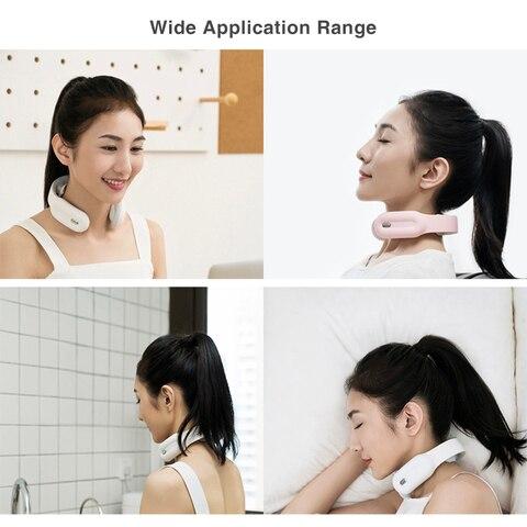 inteligente pulso eletrico pescoco massageador usb cervical