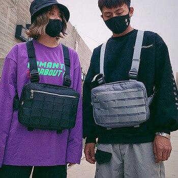 Fashion street hip-hop waist bag tactical bag men and women functional chest bag tide cool chicken vest vest bag