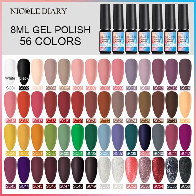 NICOLE DAIRY Pure UV Gel Nail Polish Need Matte Top Coat UV Gel Nail Art Varnish Hybrid Soak Off Gel Lacquer Manicure Gel Polish 3