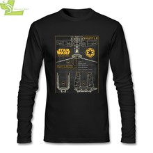 Fracht Transport Schema star wars rogue eine Erstaunliche T Shirts Mens CrewNeck Langarm Baumwolle Männer T Shirt 3XL(China)
