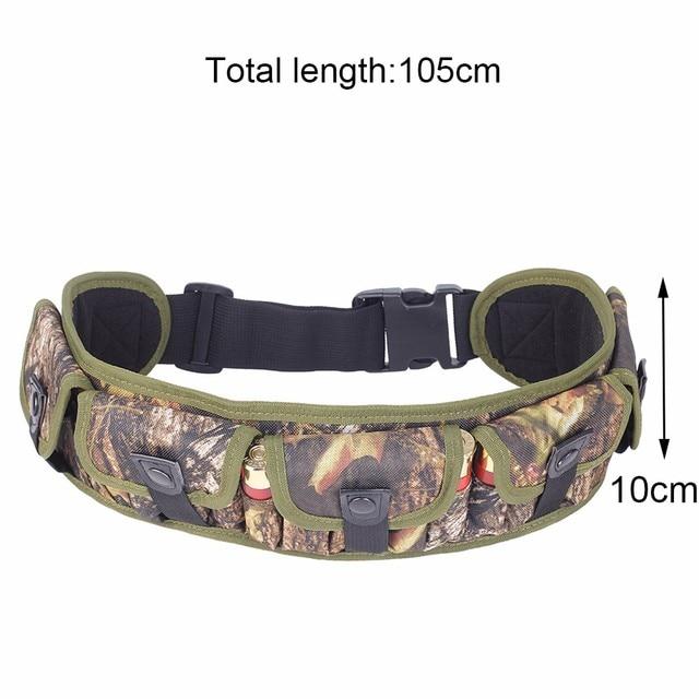 Tactical 15/25/28 Rounds Ammo Shell Holder Belt 12/20 Gauge Ammo Pouch Shot Gun Shell Bandolier Waist Bullet Cartridges Holster 3