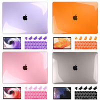 4 em 1 conjunto de presente para macbook ar  13 2020 a1932 fosco cristal caso para macbook ar pro retina 11 12 13 15 16 polegada 2019 a2141