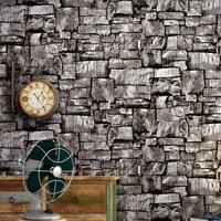Pvc 3d Imitation Brick Wall Wallpaper For Walls Roll Retro Stone Pattern Living Room Bedroom Wall Decorative Wallpaper Home Deco