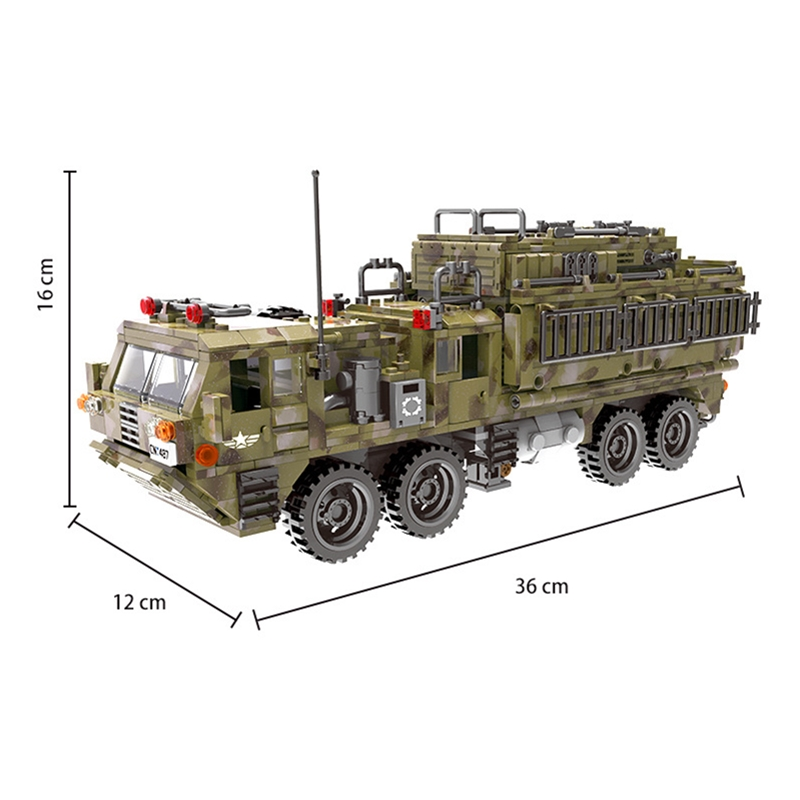 1377Pcs XINGBAO Building Blocks Toys легоe military 06014 Cross The Battlefield Series Bricks Truck Model Gift for Children 4PX 2