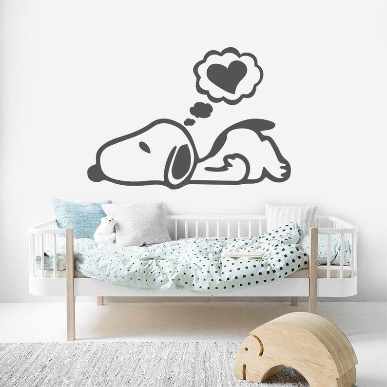 Snoopy Walll Decal Wall Art Sticker