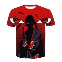 Nowy 2020 Aikooki 3D Naruto t koszula mężczyźni/kobiety moda Streetwear Hip Hop Harajuku 3D drukuj Naruto męska koszulka ubrania góry 5