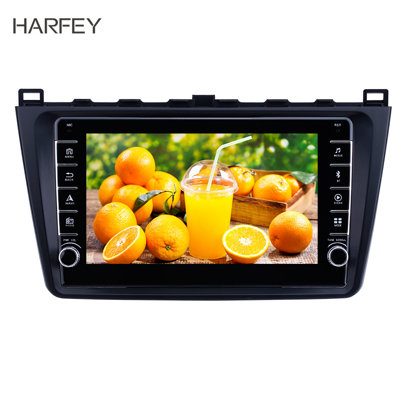 Harfey 2DIN 9 inch Android 9.1 Car Radio For <font><b>Mazda</b></font> <font><b>6</b></font> Rui wing 2008 2009-2014 Multimedia Player <font><b>GPS</b></font> Head Unit bluetooth stereo image