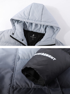 Image 4 - Pioneer Camp Fashion Gradient Down Jacket Men Brand Clothing White Duck Down Winter Hooded Zipper Mens coats  AYR903415