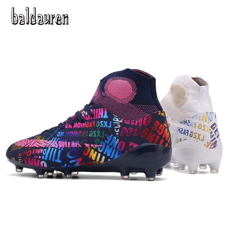BALDAUREN-botas De Fútbol De Tobillo Alto Para Hombre, Botines De Fútbol Transpirables, FG