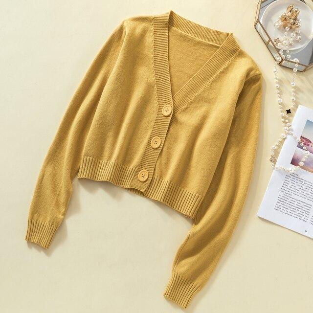 Ailegogo New 2019 Autumn Winter Women's Sweaters Cardigans Minimalist Knitting Tops Fashionable Korean Style Ladies SW8864 2