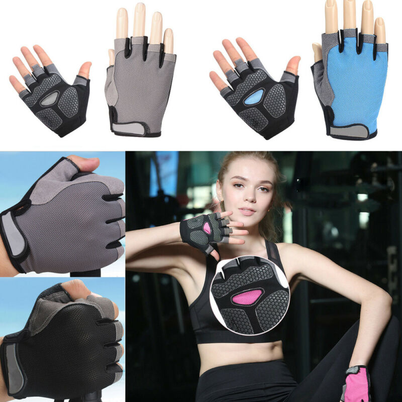 Men Women Half Finger Gym Gloves Heavyweight Sports Exercise Weight Lifting Gloves Body Building Training Sport Fitness Gloves