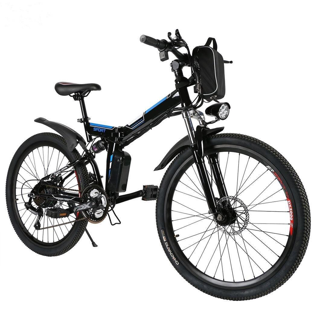 Electric 350W Mountain Bike MTB 21 Speeds Shifter Adult E-Bike Disc Brake