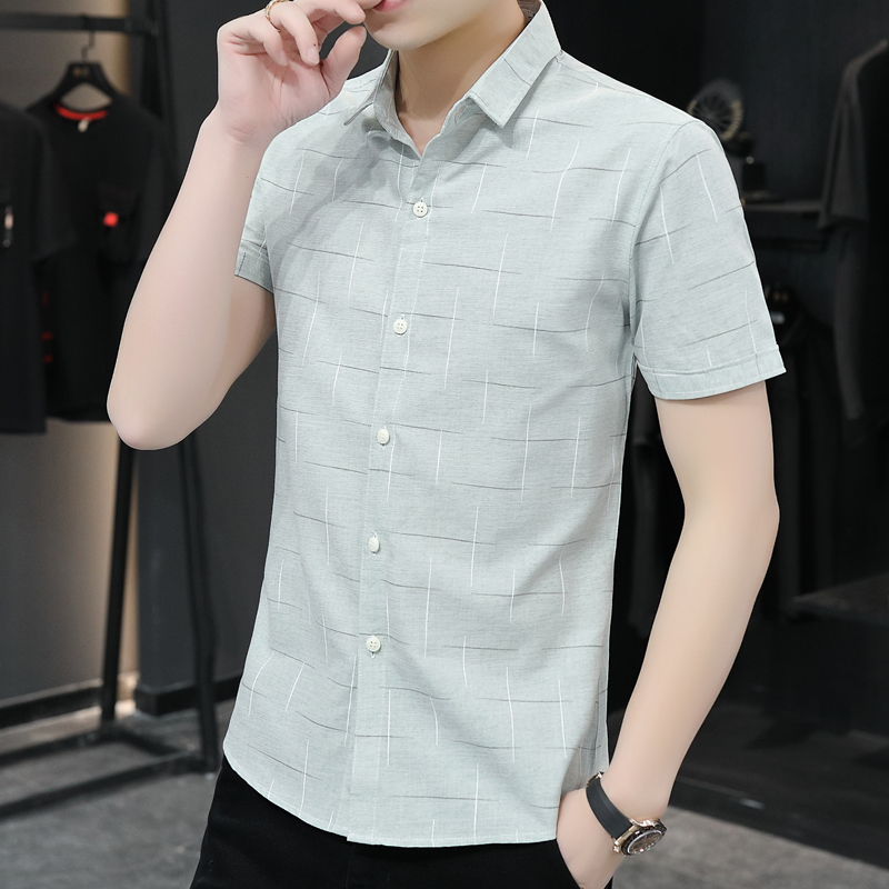 2020 Customize Men Shirt Popular Short Sleeve Personalize Solid Outwear Advertising Shirt A444 Printing