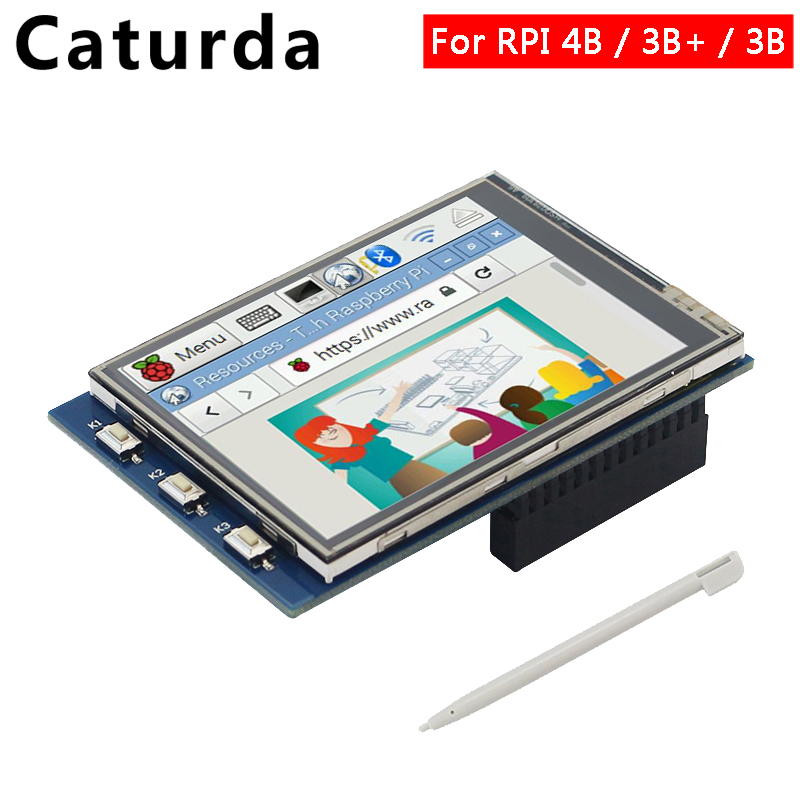 For Raspberry Pi 4 Display 2.4 / 2.8 Inch Touchscreen TFT Display 320*240 Screen LCD For Raspberry Pi 3 Model B 3B Plus 2B 3B+