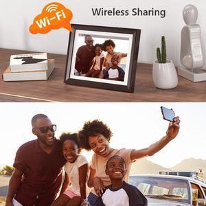 Цифровая фоторамка Dragon Touch Classic10, Wi-Fi, 10 дюймов, светодиодный IPS сенсорный экран, HD дисплей, фоторамка, поделиться фотографиями через приложен...